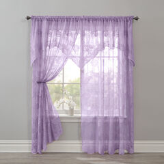 BH Studio Ella Floral Lace Panel with Attached Valance,
