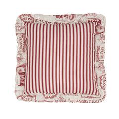 "Vintage Christmas 16"" Sq. Pillow,"