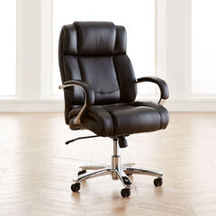Big and Tall Chrome Finish Office Chair,