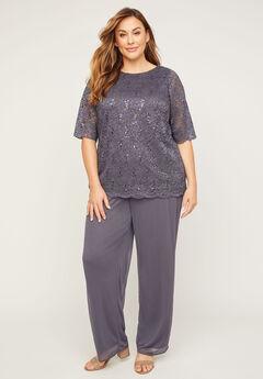 Sparkle & Lace Pant Set,