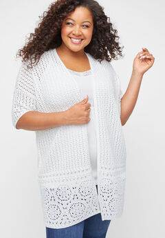 Embroidered Lace Cardigan,