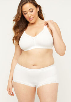 Cotton Boyshort Panty With Lace,