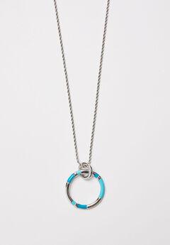 Brilliant Blue Pendant Necklace,