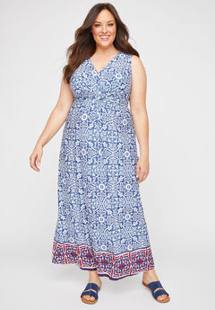 Visionary Twist-Knot Maxi Dress,