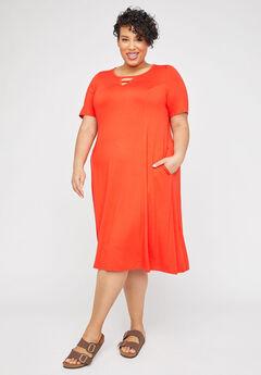 Lakeside A-Line Dress (With Pockets),
