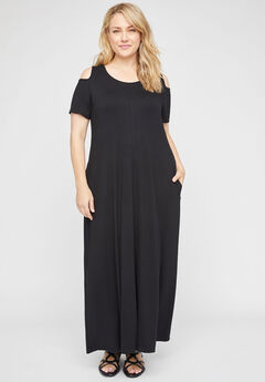 Gramercy Open-Shoulder Maxi Dress (With Pockets),