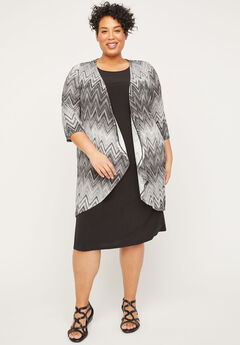 Chevron Shadow Jacket Dress,