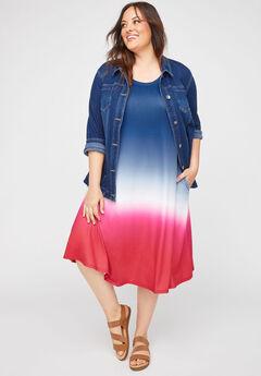 Parade Dip-Dye A-Line Dress (With Pockets),