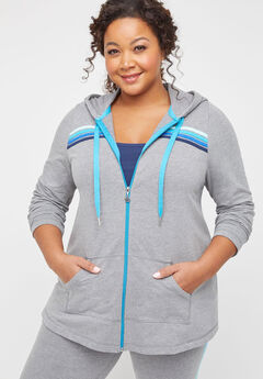 Eastview Zip-Up Hooded Jacket,