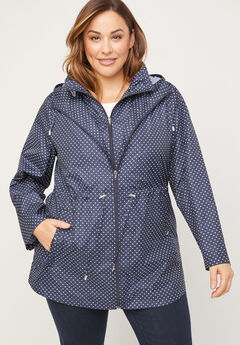 Polka Dot Packable Parka,