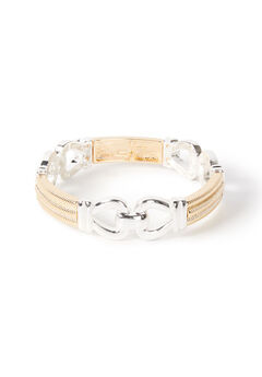 Linked Up Stretch Bracelet,