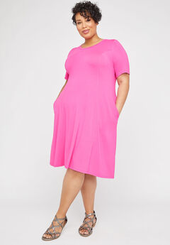 Brightside A-Line Dress (With Pockets),