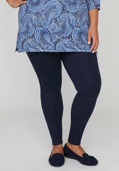 Ponte Knit Legging With Front Seam,