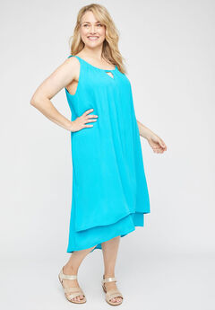 Veranda Gauze A-Line Dress,