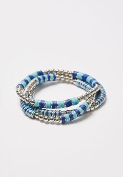 3-Row Pacific Springs Stretch Bracelets,