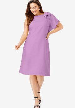 Bow Sleeve Dress,