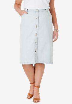 True Fit Denim A-Line Skirt,