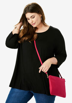 3-In-1 Crossbody Bag, CLASSIC RED
