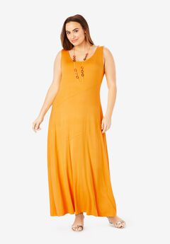 Tank Maxi Dress, SUNSET YELLOW