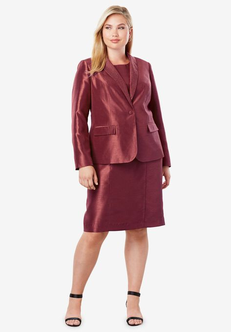 Jewel Jacket Dress Plus Size Suit Seperates Woman Within