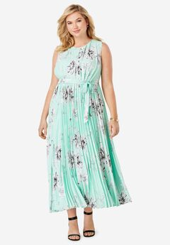 Pleated Maxi Dress,