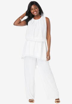 2-Piece Wide-Leg Pant Set,