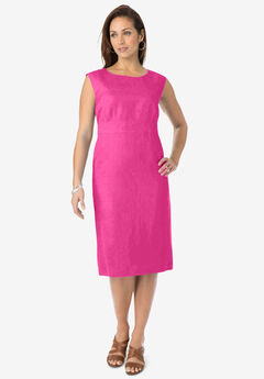 Linen Sheath Dress,