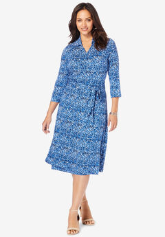 Faux Wrap Dress,
