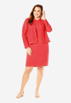 Eyelet Jacket Dress,
