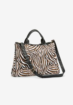 Zebra Canvas Tote Bag,