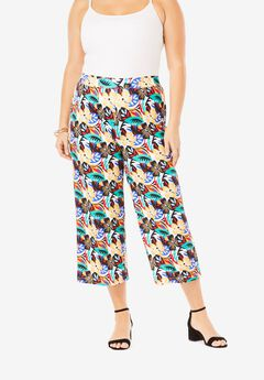 Travel Stretch Knit Cropped Pants,
