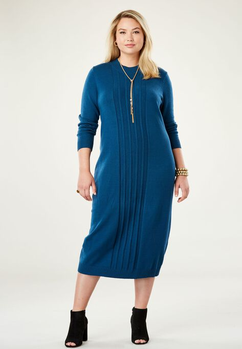 Midi Sweater Dress Plus Size Casual Dresses Woman Within