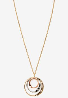 Tri-Colored Circle Necklace,