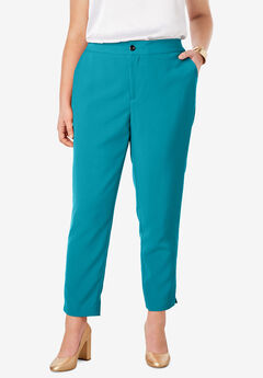 Bi-Stretch Ankle Pant, DEEP TURQUOISE