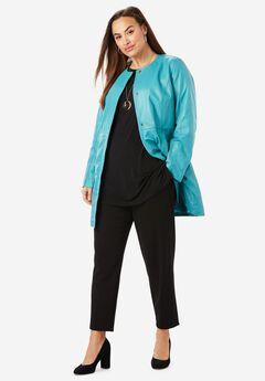 Three-Quarter Leather Jacket,