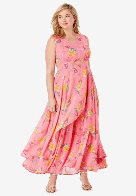 Flyaway Maxi Dress  Plus Size Maxi Dresses   Woman Within
