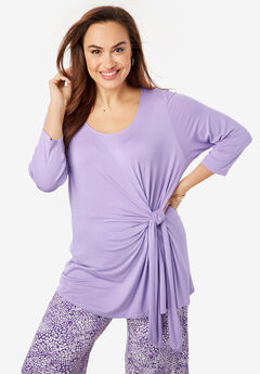 Knot Front Tunic, BRIGHT LILAC