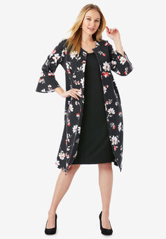 Bell Sleeve Ponte Jacket Dress,