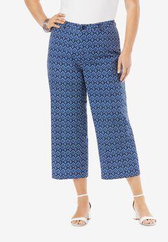 Wide Leg Poplin Crop,