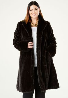Faux Fur Swing Coat,