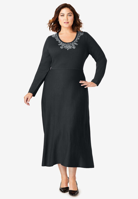 Bow Sweater Dress| Plus Size Special Occasion Dresses | Woman Within