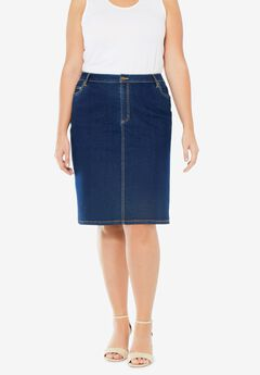 True Fit Denim Short Skirt,