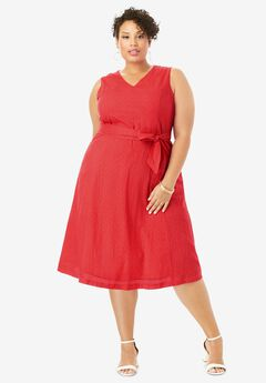 Sleeveless Eyelet Dress,