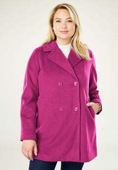 A-Line Peacoat, BERRY