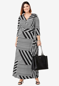 5cb4ca3a436 Faux Wrap Maxi Dress. Jessica London