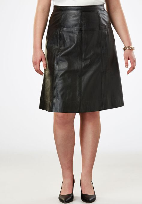 A-Line Leather Skirt| Plus Size Skirts | Woman Within