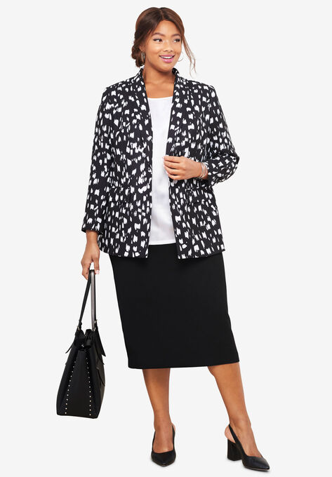 Single-Breasted Skirt Suit  1e7a0f267