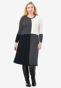 Stripe Midi Sweater Dress,
