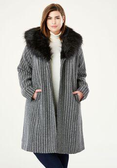 A-Line Wool-Blend Coat,