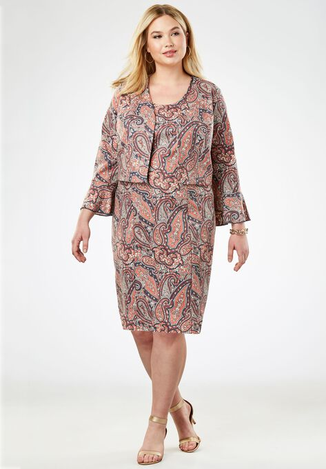 Ponte Jacket Dress Plus Size Special Occasion Dresses Woman Within